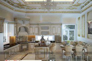 4 Mẫu nội thất phòng bếp cổ điển biệt thự lâu đài diện tích 1280m2 tại gia lai