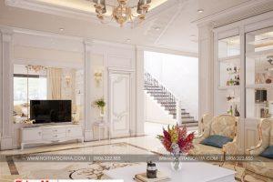 5 Mẫu nội thất phòng khách biệt thự tân cổ điển tại quảng ninh sh btp 0127