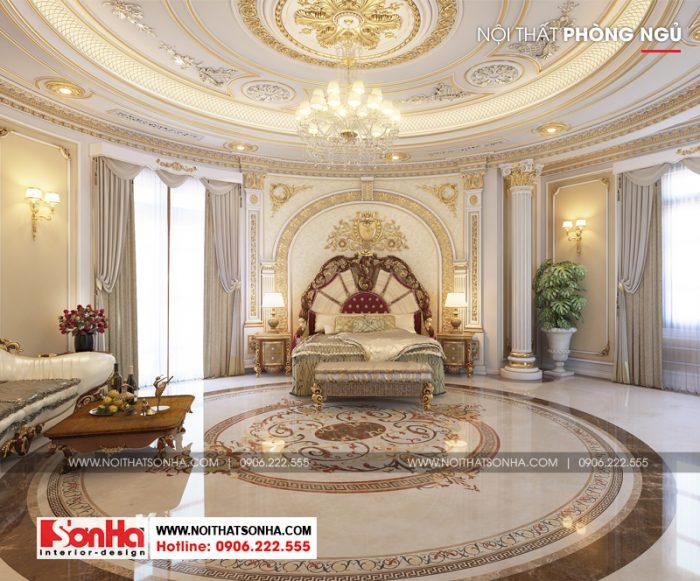 Mẫu phòng ngủ đẹp phong cách xa hoa trang hoàng lộng lẫy
