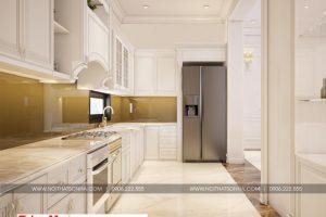 7 Thiết kế nội thất phòng bếp biệt thự tân cổ điển đẹp tại quảng ninh sh btp 0127
