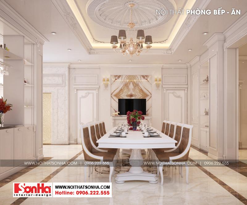 8 Mẫu nội thất phòng ăn biệt thự tân cổ điển 3 tầng tại quảng ninh sh btp 0127