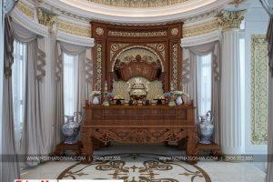 9 Thiết kế nội thất phòng thờ cổ điển biệt thự lâu đài tại gia lai