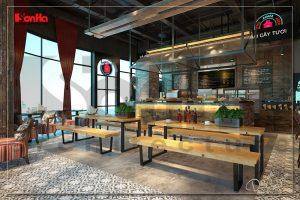 BÌA mẫu nội thất tiệm bánh cafe hiện đại 170m2 tại trung tâm thương mại vinhomes imperia hải phòng