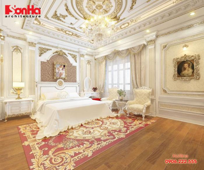 Các đường nét được kết hợp tinh tế làm nên phòng ngủ ấm cúng đẹp mắt