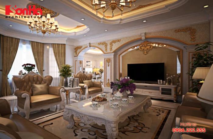 Đồ nội thất cao cấp làm nên nét sang trọng của mẫu phòng khách đẹp