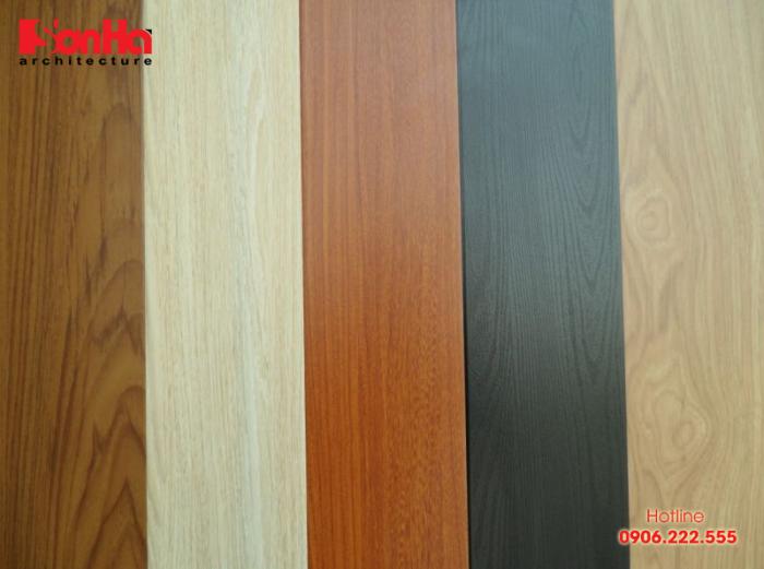 HDF được làm ra từ những sợ gỗ trộn với keo đặc dụng rồi nén dưới áp suất lớn