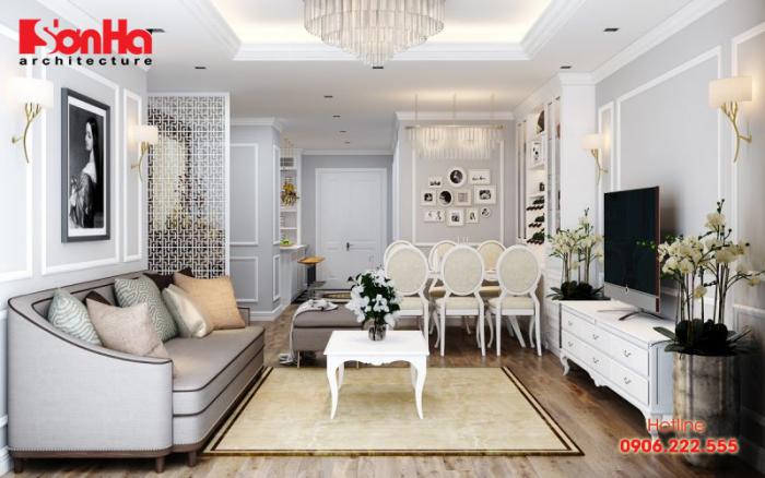 Không gian nội thất được bài trí đẹp theo phong cách tân cổ điển
