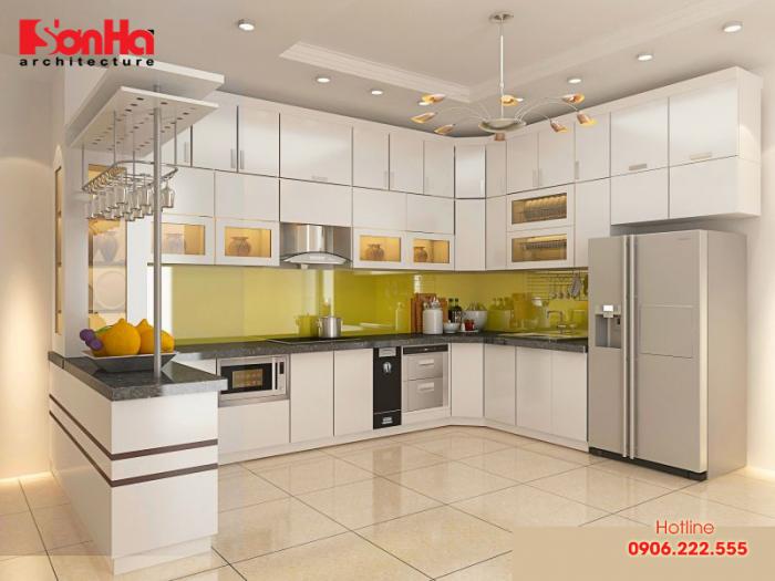 Mang may mắn đến với quy tắc sắp đặt phong thủy thiết kế phòng bếp