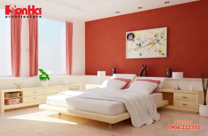 Sử dụng tông màu đồng đỏ cho phòng ngủ cao quý và cuồng nhiệt