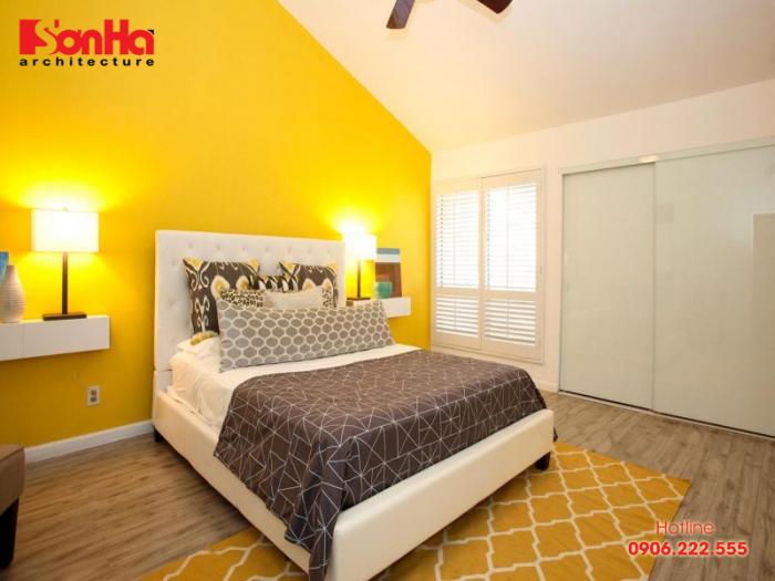 Thiết kế nội thất hiện đại với màu vàng phong thủy cho tuổi Tân Sửu