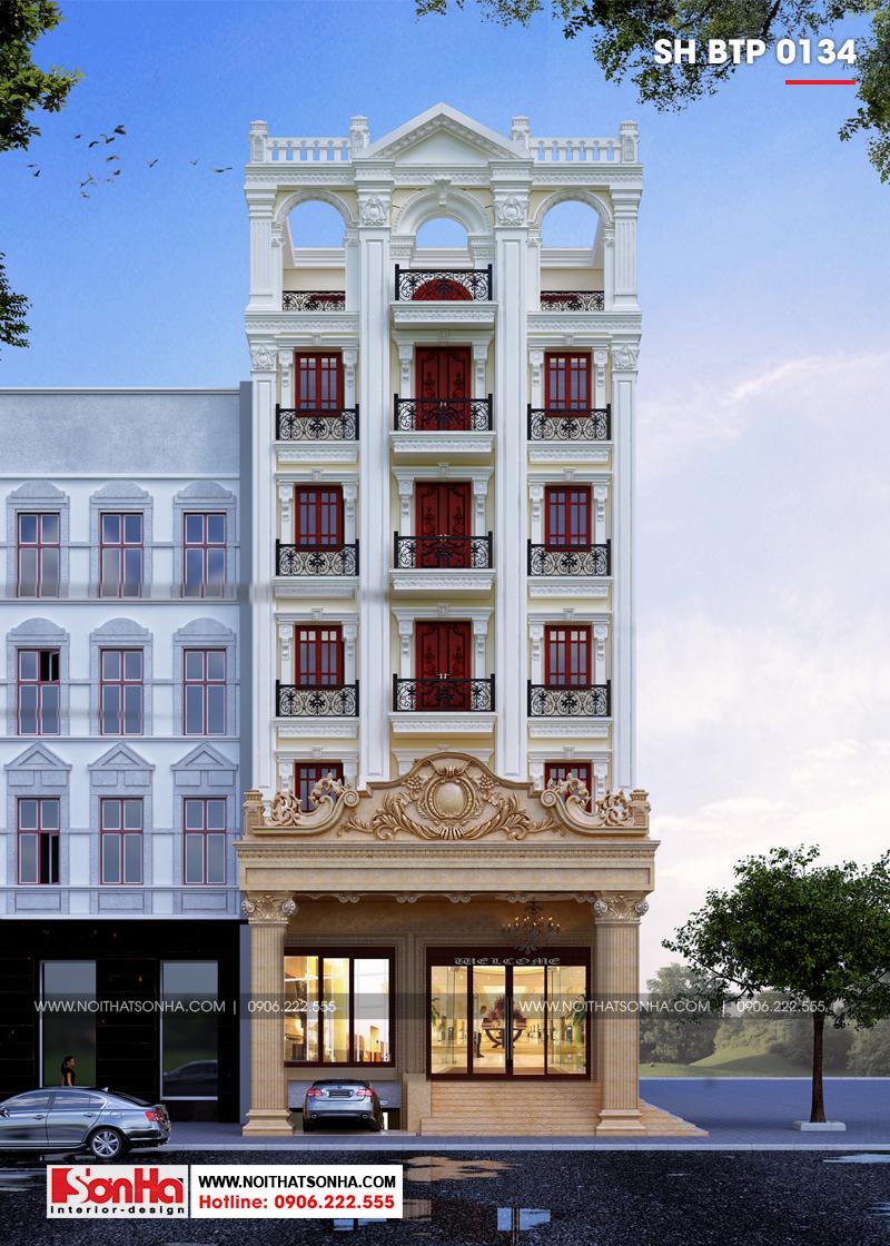 Kiến trúc biệt thự Pháp 5 tầng tại Ninh Bình sở hữu nội thất sang trọng