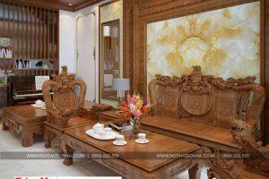 1 Thiết kế nội thất phòng khách nhà ống cổ điển đẹp tại hải phòng sh nop 0159