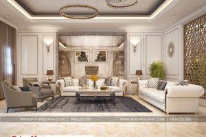 10 Không gian nội thất phòng khách tầng 2 biệt thự kiểu pháp tại ninh bình sh btp 0134