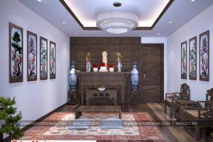 10 Không gian nội thất phòng thờ nhà ống kiểu tân cổ điển tại hải phòng sh nop 0188