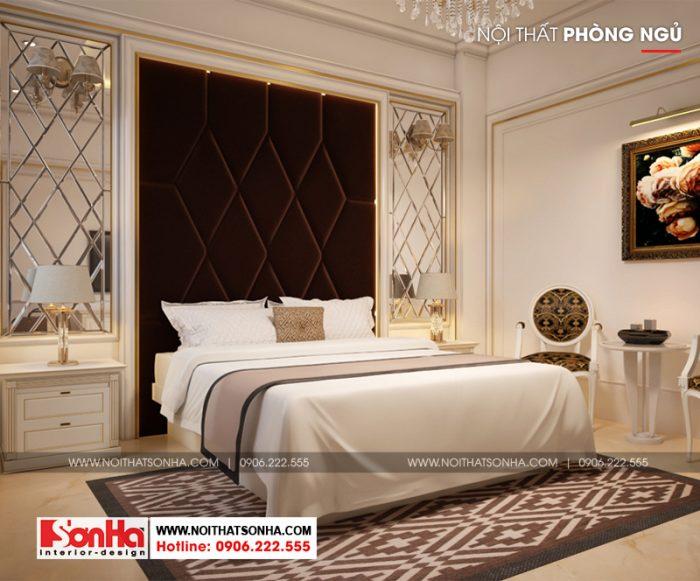 Thiết kế nội thất phòng ngủ giường đôi ấn tượng với trang trí đẹp