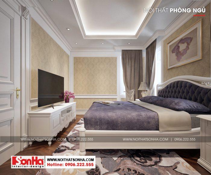 Từ mọi góc đặt mắt thiết kế phòng ngủ đều đẹp mắt, sang trọng và ấm cúng