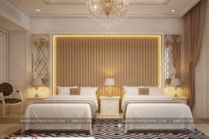 11 Mẫu thiết kế nội thất phòng ngủ tân cổ điển khách sạn 3 sao tại bắc ninh