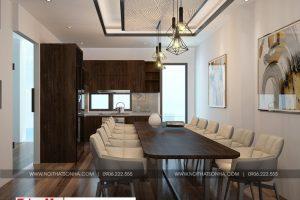 11 Thiết kế nội thất hiện đại phòng bếp nhà phố liền kề tại khu đô thị waterfront hải phòng wfc 005