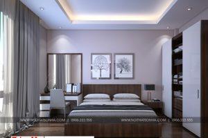 11 Thiết kế nội thất phòng ngủ 4 nhà ống hiện đại hình chữ l tại hải phòng sh nod 0197