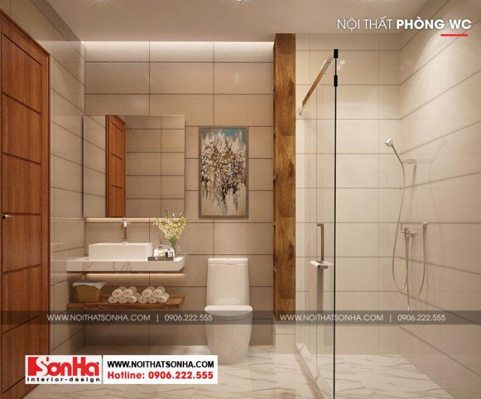 Phương án thiết kế phòng tắm và vệ sinh tiện nghi của nhà phố kiểu Pháp