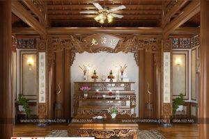12 Thiết kế nội thất phòng thờ biệt thự tân cổ điển khu đô thị vinhomes hải phòng sh btp 0125
