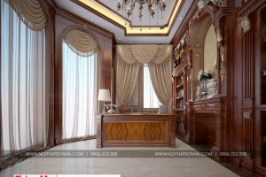 13 Mẫu nội thất phòng làm việc biệt thự song lập khu đô thị vinhomes hải phòng sh btp 0125