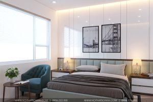 13 Thiết kế nội thất phòng ngủ nhà phố liền kề khu đô thị waterfront hải phòng wfc 005