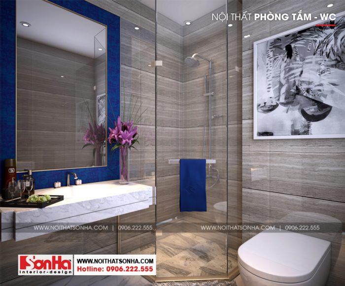 Còn đây là phương án thiết kế nội thất phòng tắm và vệ sinh ngôi nhà