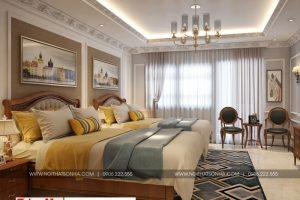 14 Thiết kế nội thất phòng ngủ 4 biệt thự pháp mặt tiền 9,3m tại ninh bình sh btp 0134