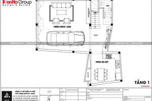 15 Mặt bằng công năng tầng 1 nhà ống hiện đại hình chữ l tại hải phòng sh nod 0197