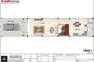 15 Mặt bằng công năng tầng 1 nhà phố cổ điển tại hải phòng sh nop 0159
