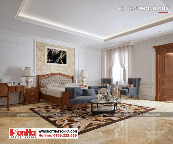Không gian nội thất phòng ngủ cổ điển Pháp đẹp mắt với nội thất gỗ