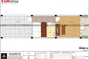 16 Bản vẽ tầng 4 nhà ống tân cổ điển 3 phòng ngủ tại hải phòng sh nop 0188