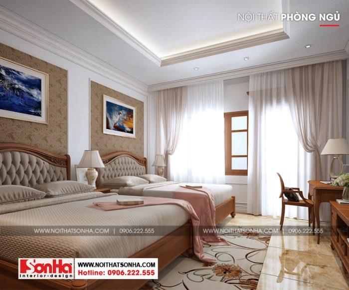 Nội thất phòng ngủ phong cách cổ điển Pháp nổi bật về màu sắc và đường nét