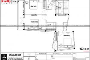 16 Mặt bằng công năng tầng 2 nhà ống hiện đại đẹp tại hải phòng sh nod 0197