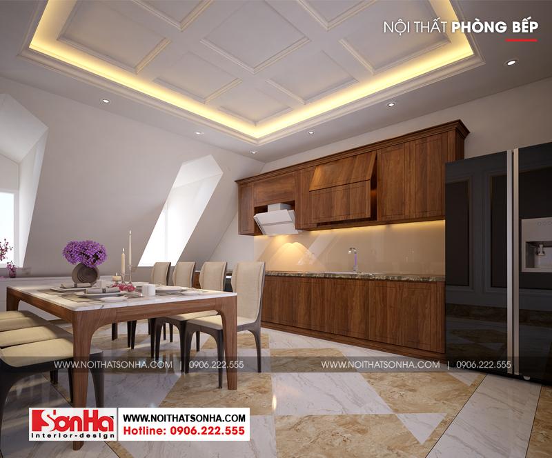 16 Thiết kế nội thất phòng bếp ăn khu shophouse tại quảng ninh