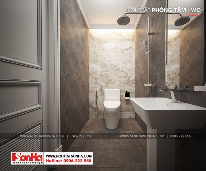 Nội thất sử dụng trang trí phòng tắm và vệ sinh này đều rất cao cấp