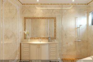 16 Thiết kế nội thất phòng tắm wc biệt thự tân cổ điển đẹp khu đô thị vinhomes hải phòng sh btp 0125