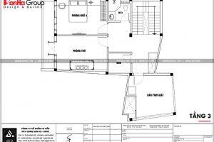 17 Mặt bằng công năng tầng 3 nhà ống hiện đại 3 tầng tại hải phòng sh nod 0197