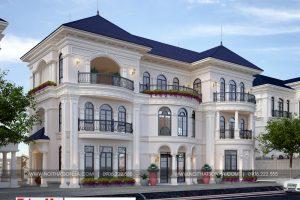 17 Mẫu thiết kế biệt thự tân cổ điển 3 tầng đẹp tại hải phòng sh btp 0125