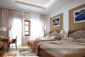 17 Thiết kế nội thất phòng ngủ 7 biệt thự kiểu pháp tại ninh bình sh btp 0134