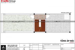 18 Mặt bằng công năng tầng áp mái nhà phố cổ điển tại hải phòng sh nop 0159