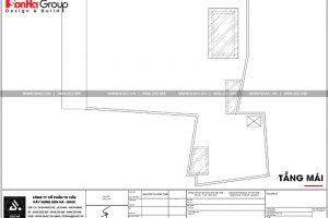 18 Mặt bằng công năng tầng mái nhà ống phong cách hiện đại tại hải phòng sh nod 0197