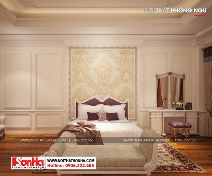 Ý tưởng thiết kế phòng ngủ kiểu cổ điển Pháp cho biệt thự cổ điển sang trọng