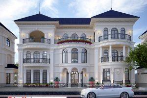 18 Thiết kế kiến trúc biệt thự tân cổ điển có sân vườn tại hải phòng sh btp 0125