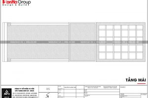 19 Mặt bằng công năng tầng mái nhà ống pháp tại hải phòng sh nop 0159