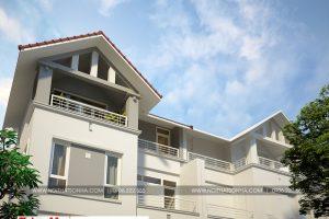 2 Thiết kế biệt thự hiện đại 3 tầng tại hải phòng sh btd 0071