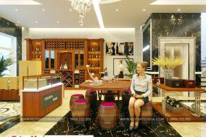2 Thiết kế nội thất shop rượu nhà phố liền kề tại quảng ninh