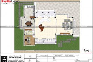20 Mặt bằng công năng tầng 1 biệt thự tân cổ điển tại hải phòng sh btp 0125