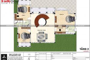 21 Mặt bằng công năng tầng 2 biệt thự tân cổ điển đẹp tại hải phòng sh btp 0125